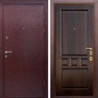 Входная дверь с порошковым напылением и массивом дуба