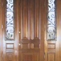 Железная эксклюзивная дверь с массивом дуба с 2-х сторон