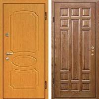 Металлическая дверь с МДФ и массивом дуба
