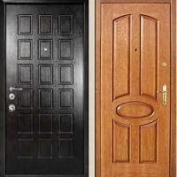 Железная дверь с МДФ и массивом дуба
