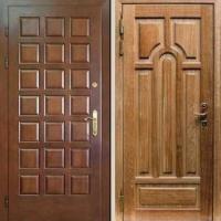 Входная дверь с МДФ и массивом дуба
