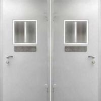 Металлическая дверь в кассу и оружейную с простым окрасом с 2-х сторон