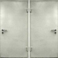 Стальная дверь в кассу и оружейную с порошковым напылением с 2-х сторон