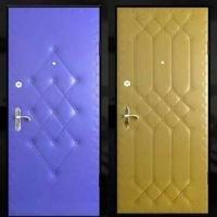Входная дверь с винилискожей с рисунком с 2-х сторон