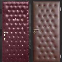 Стальная дверь с винилискожей с рисунком с 2-х сторон