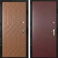 Железная дверь с винилискожей с рисунком и винилискожей гладкой