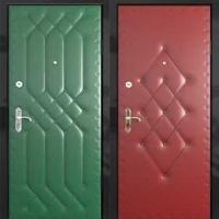 Металлическая дверь с винилискожей с рисунком с 2-х сторон