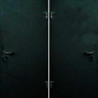 Металлическая дверь с простым окрасом с 2-х сторон
