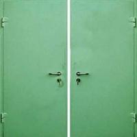 Стальная дверь с простым окрасом с 2-х сторон