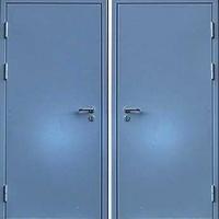 Железная дверь с простым окрасом с 2-х сторон