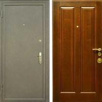 Входная дверь с шумоизоляцией с порошковым напылением и массивом