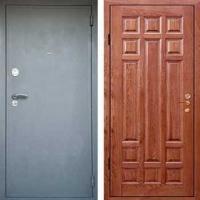 Стальная дверь с шумоизоляцией с порошковым напылением и массивом