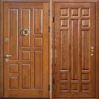 Железная дверь с шумоизоляцией с массивом с 2-х сторон