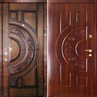 Металлическая дверь с шумоизоляцией с массивом с 2-х сторон