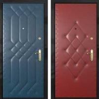 Железная дверь с винилискожей с 2-х сторон