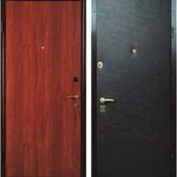 Стальная дверь в офис с ламинатом и винилискожей