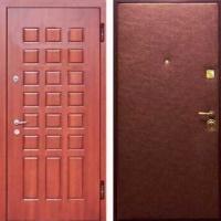 Железная дверь в коттедж с МДФ и винилискожей