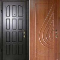Стальная дверь в коттедж с МДФ с 2-х сторон
