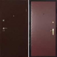 Металлическая дверь в частный дом с винилискожей и порошковым напылением
