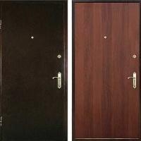 Железная дверь в коттедж с ламинатом и порошковым напылением