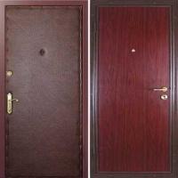 Стальная дверь с ламинатом и винилискожей гладкой