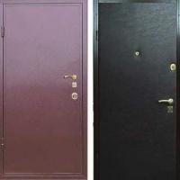 Железная дверь для дачи с порошковым напылением и винилискожей