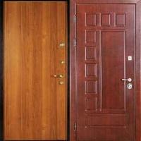 Стальная дверь для дачи с МДФ и ламинатом