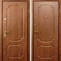 Металлическая дверь для дачи с МДФ с 2-х сторон