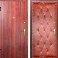 Входная дверь с ламинатом и винилискожей с рисунком