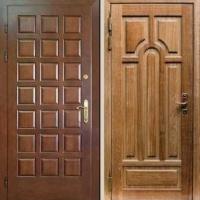 Стальная дверь для дачи с массивом дерева и МДФ