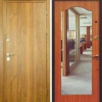Стальная дверь с зеркалом с ламинатом с 2-х сторон