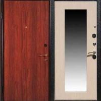 Металлическая дверь с зеркалом с ламинатом с 2-х сторон