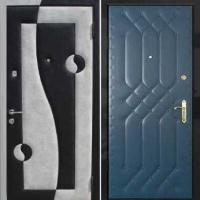 Металлическая дверь с винилискожей с двух сторон