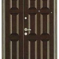Входная двухстворчатая дверь с порошковым напылением с 2-х сторон