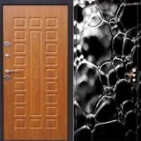 Входная элитная дверь с фотопечатью и МДФ