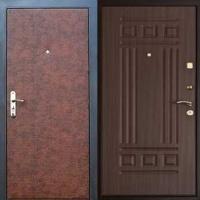 Стальная дверь эконом класса с винилискожей и МДФ
