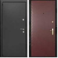 Железная дверь эконом класса простого окраса и винилискожей гладкой