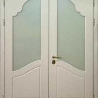 Входная двухстворчатая дверь с ламинатом с 2-х сторон