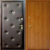 Металлическая дверь эконом класса с винилискожей с рисунком и ламинатом