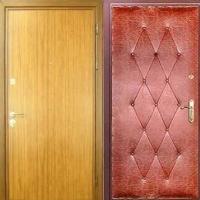 Стальная дверь эконом класса с ламинатом и винилискожей с рисунком