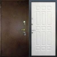 Входная дверь эконом класса с порошковым окрасом и МДФ