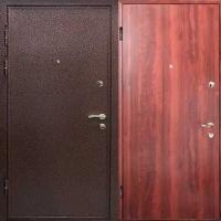 Металлическая дверь эконом класса с порошковым напылением и ламинатом