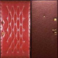 Входная дверь эконом класса с винилискожей с рисунком и гладкой винилискожей