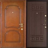 Железная дверь эконом класса с МДФ с 2-х сторон