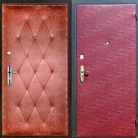 Стальная дверь эконом класса с винилискожей с рисунком и винилискожей