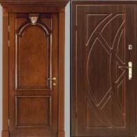 Металлическая дверь эконом класса с МДФ с 2-х сторон