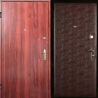 Стальная дверь эконом класса с ламинатом и винилискожей гладкой
