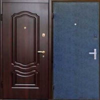 Металлическая дверь эконом класса с МДФ и винилискожей