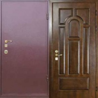 Железная дверь эконом класса с порошковым напылением и МДФ