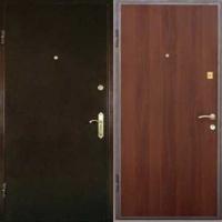Металлическая дверь эконом класса с порошковым окрасом и ламинатом